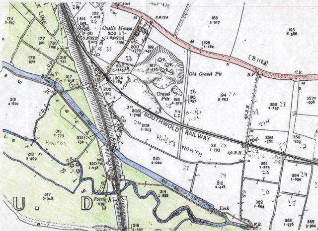 Old Map showing meanders
