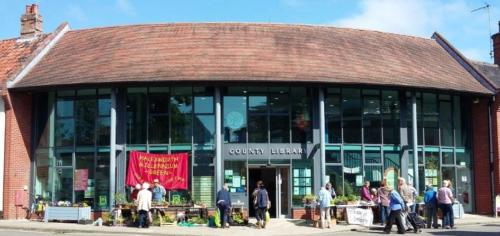 2018 May Plant sale outside the Library