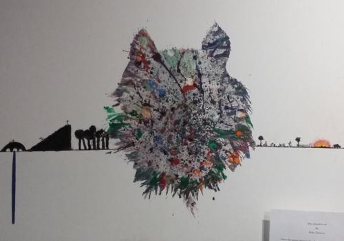 2018 Art Competition 7-11s winner Wonderful Wolf by Rufus Thubron