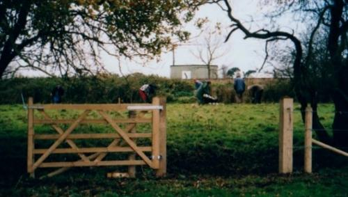 23. 2000 November planting trees in Mike's Triangle on Blyth meadow to screen the Industrial Estate