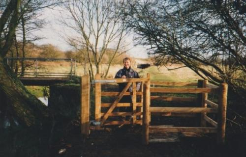 33. 2001 Footpath 23 kissing gate by White Bridge