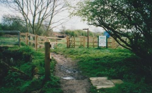 34. 2001 Footpath 23 kissing gate moved to other side of White Bridge beside new field gate