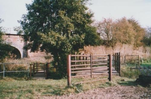 50. 2003 October Two Acres stile on Footpath 3 to Mells and gates at bridge by Six Arches