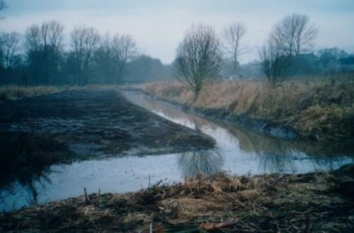 55. 2005 Spring newly dredged ditch joined to original in Folly meadow