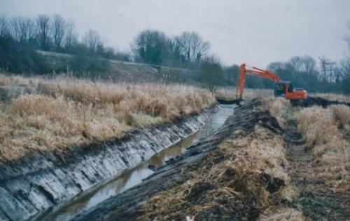 56. 2005 Spring dredging ditch in Folly meadow