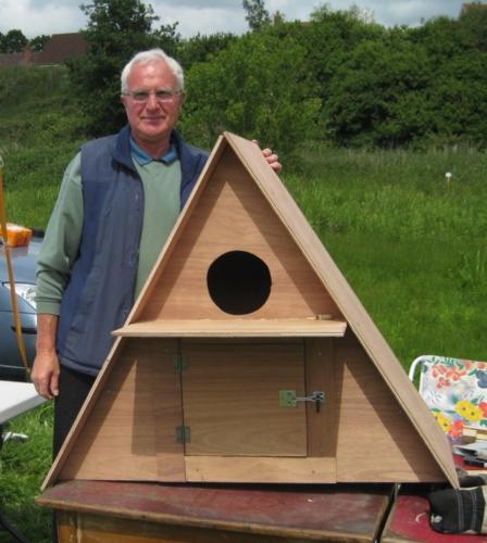 78. 2009 June Breathing Places Open Weekend Mike Culling and his Barn Owl Box later erected in Blyth meadow